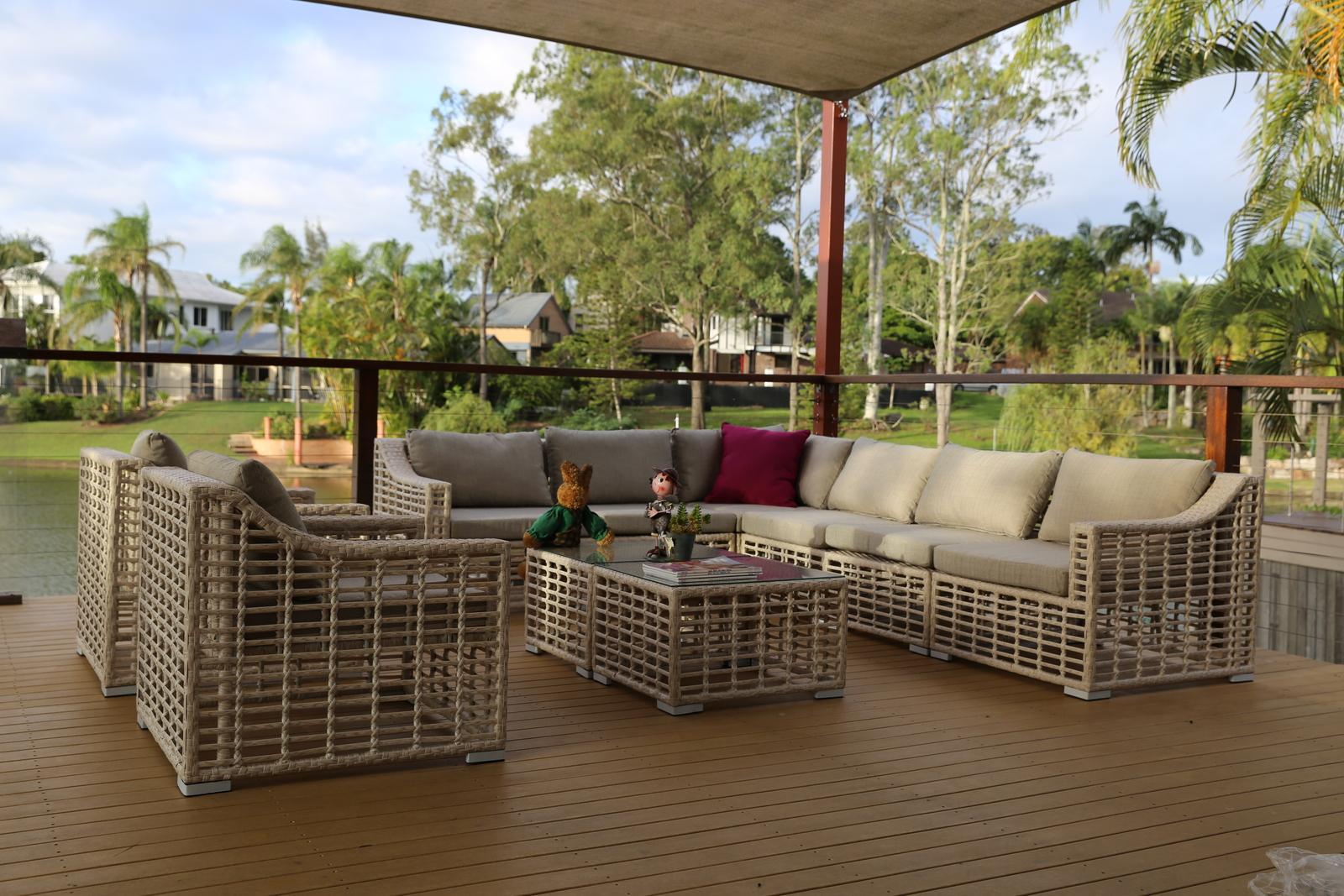 Outdoor Corner Lounge Furniture Brisbane Set