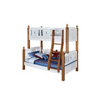 WOOD BUNK BED WITH LADDER