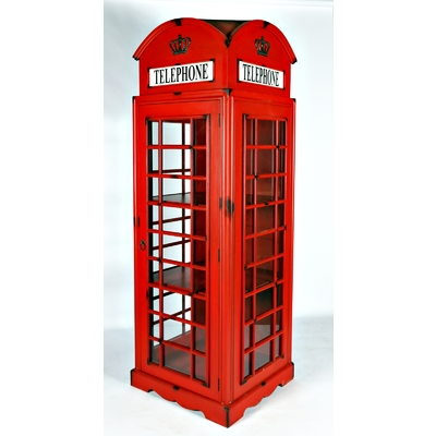 UK TELEPHONE BOOTH DISPLAY CABINET