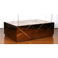 CELLAR ROSE GOLD MIRRORED RECTANGULAR COFFEE TABLE