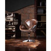 AVIATOR | ANTIQUE LEATHER OFFICE CHAIR