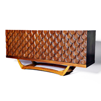 SCALLOP SHELL TIMBER CREDENZA