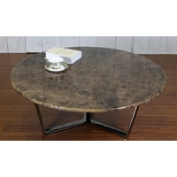 JUPITER | RUSTIC ROUND MARBLE COFFEE TABLE