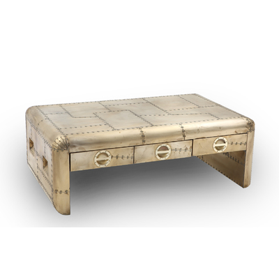 SENTRA BRASS AVIATOR COFFEE TABLE