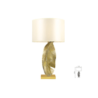 FEATHER BRASS OR GOLD TABLE LAMP RANGE