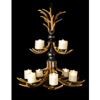 TOOTHED CANDLE CHANDELIER