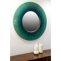 EMERALD GREEN ROUND MIRROR
