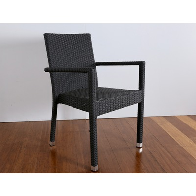HARRY BLACK OUTDOOR DINING CHAIR