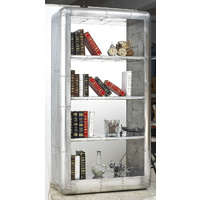 AVIATOR SILVER INDUSTRIAL BOOKCASE