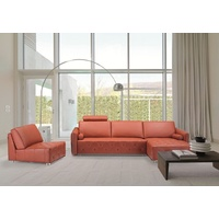 VERENA 3 SEATER LEATHER SOFA WITH CHASE