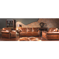 HUDSON | ANTIQUE LEATHER LOUNGE RANGE