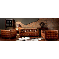 LONDON CLUB | ANTIQUE LEATHER LOUNGE RANGE