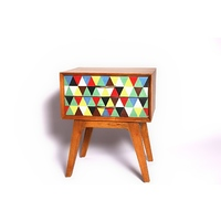 RETRO TIMBER SIDE LAMP TABLE