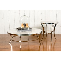 LEMNISCATE WHITE  MARBLE TOP COFFEE TABLE