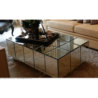 BLOCK SILVER MIRRORED COFFEE TABLE