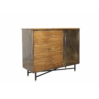 JET BLAST - TIMBER & BRASS CABINET