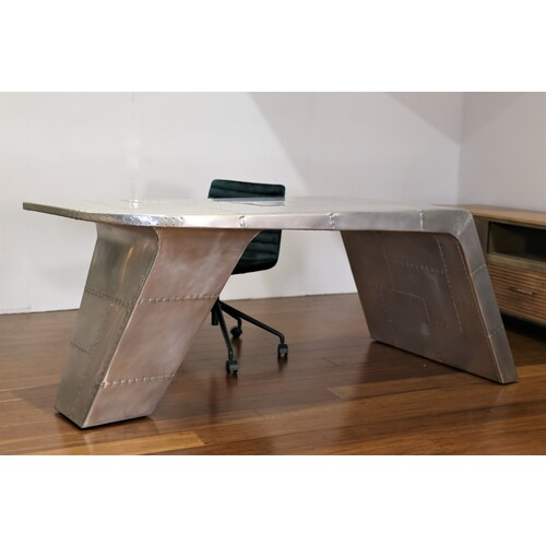 AVIATOR | INDUSTRIAL DESK 190CM - SILVER