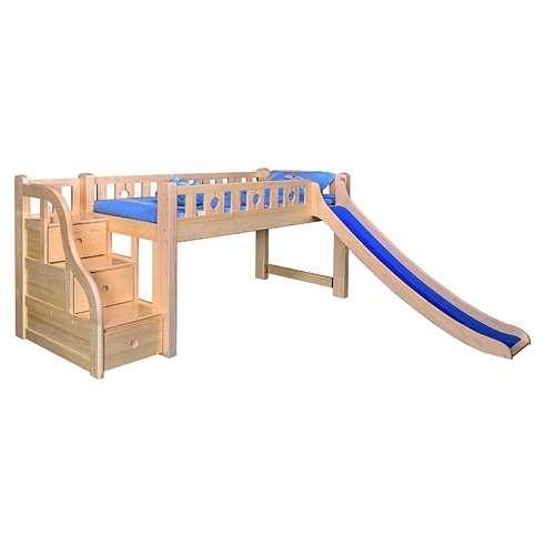TIMBER BUNK BED WITH SLIDE