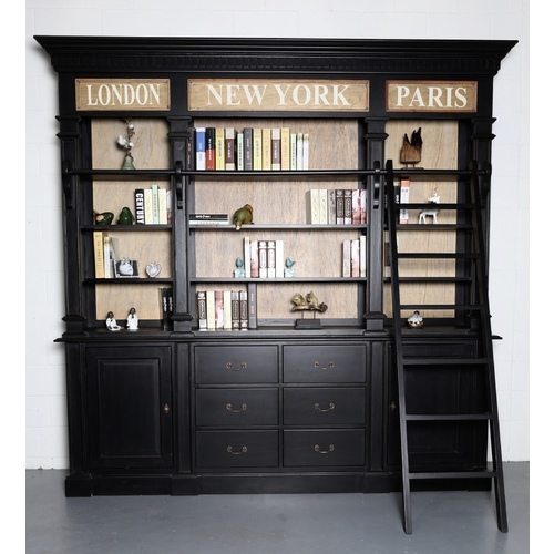 LIBERTY | TRADITIONAL PROVINCIAL LIBRARY - BLACK