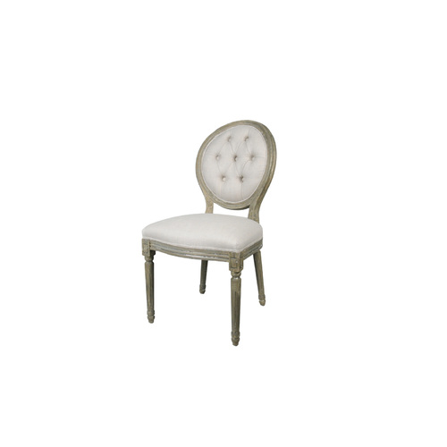 BALLOON BACK FABRIC DINING CHAIR