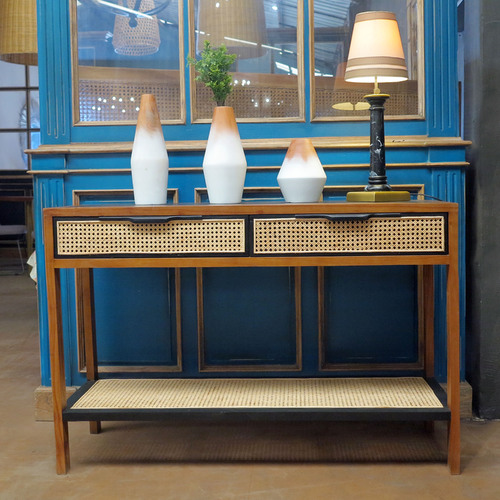 HERVE CONTEMPORARY RATTAN CONSOLE - 2 DRAWERS