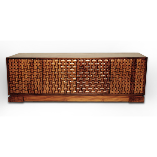 WEAVE WOOD CREDENZA