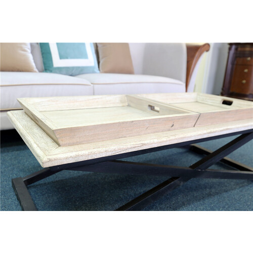 ANNALISE | COASTAL COFFEE TABLE - DUAL TRAY