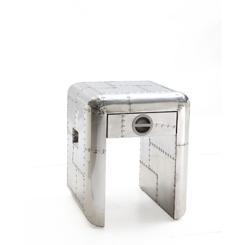 SILVER AVIATOR LAMP SIDE TABLE
