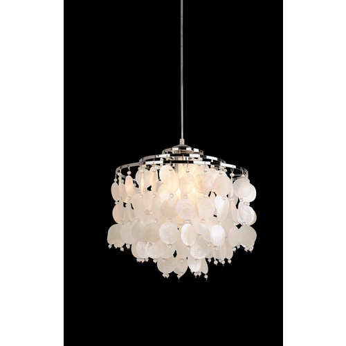 PEARL CHROME CHANDELIER
