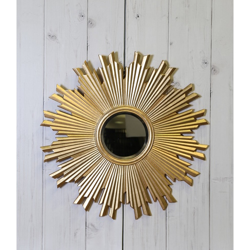 STAR BURST MIRROR GOLD FINISH
