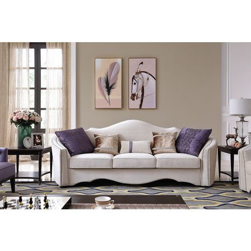 SOPHIA | 3-SEATER CLASSIC LUX LOUNGE - CREME