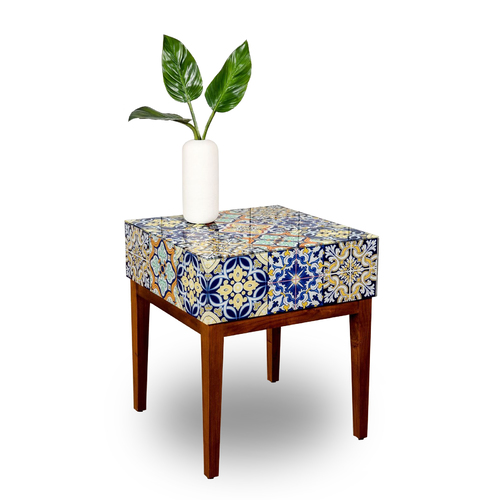 MOROCCAN GLASS TILE  SIDE TABLE