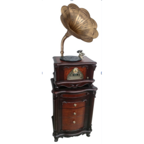 GRAMOPHONE AND CABINET