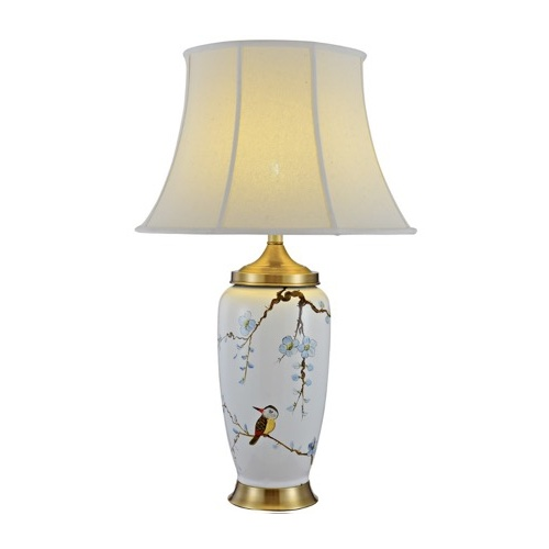 WHITE ORCHID TALL LAMP